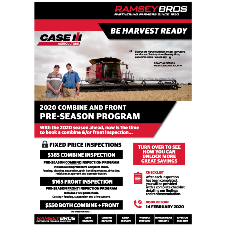 2020 Combine and Front Pre-season Program