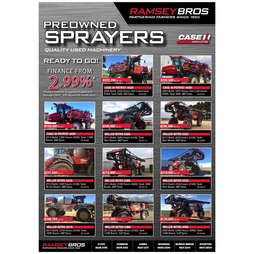 Ramsey Bros Offer - Used Sprayers - image