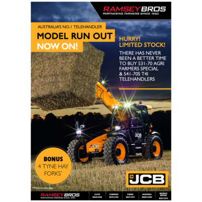 JCB Run Out. Now On!