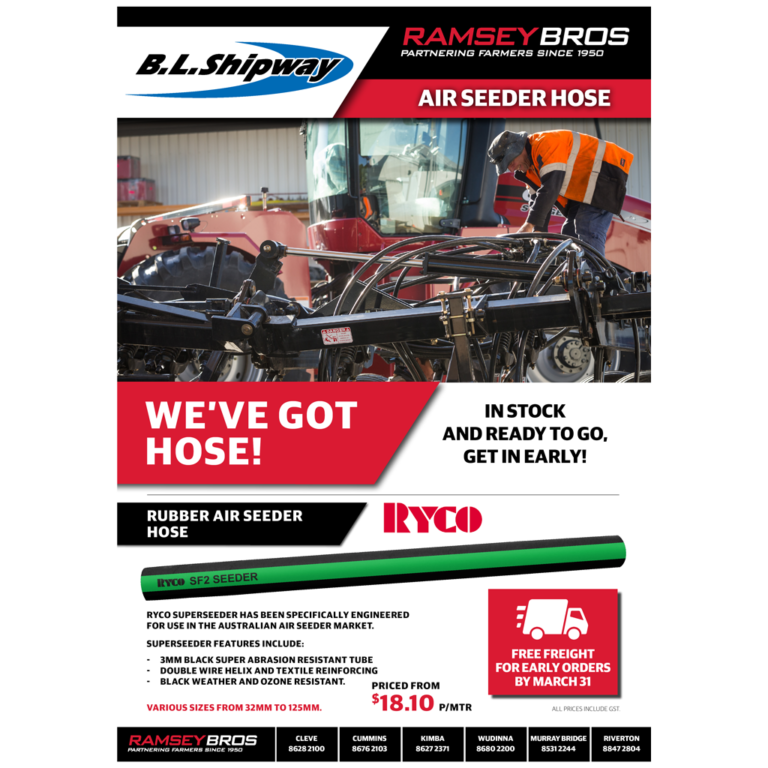 Air Seeder Hose... in Stock & Ready to go, get in Early!