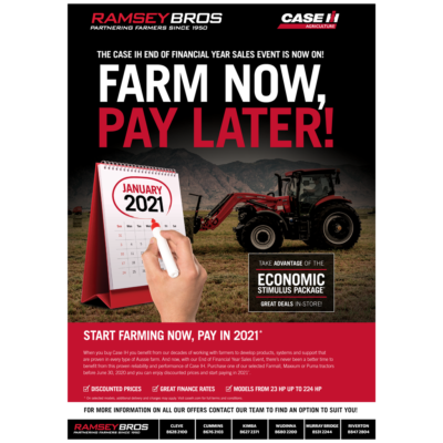 FARM NOW, PAY IN 2021.