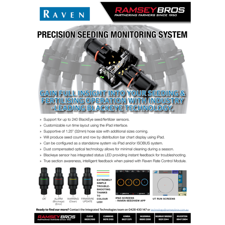 RAVEN Blackeye seed/fertiliser sensors