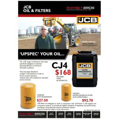 JCB Oil and Filters
