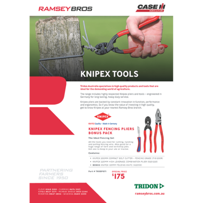 Knipex pliers and Tridon fasteners